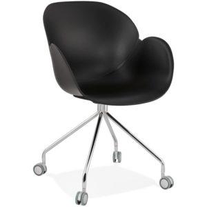 Chaise de bureau design ´JEFF´ noire sur roulettes 300x300 - Chaise de bureau design ´JEFF´ noire sur roulettes