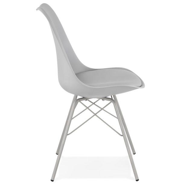 Chaise Design BYBLOS Grise Style Industriel 2