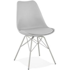 Chaise design ´BYBLOS´ grise style industriel