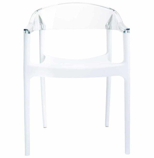 Chaise-design-´EMA´-blanche-et-transparente-2