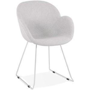 Chaise design ´JUMBO´ grise claire en tissu
