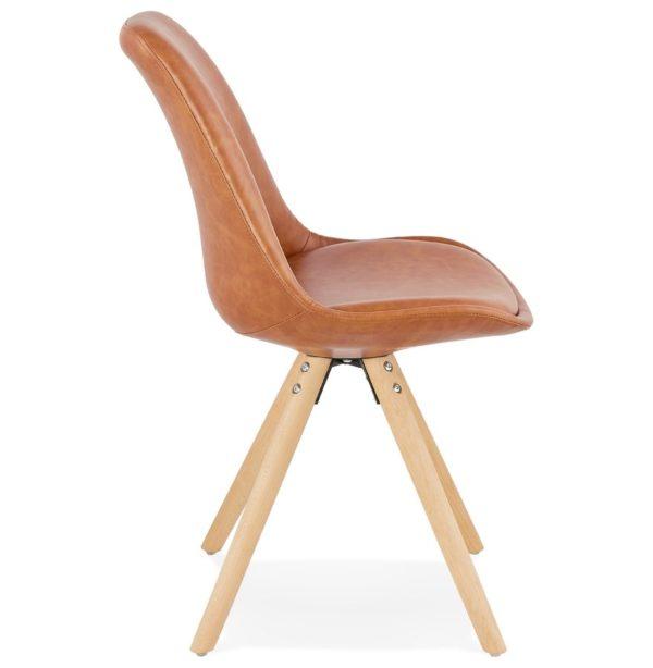 Chaise-design-´STREET´-en-matière-synthétique-brune-2