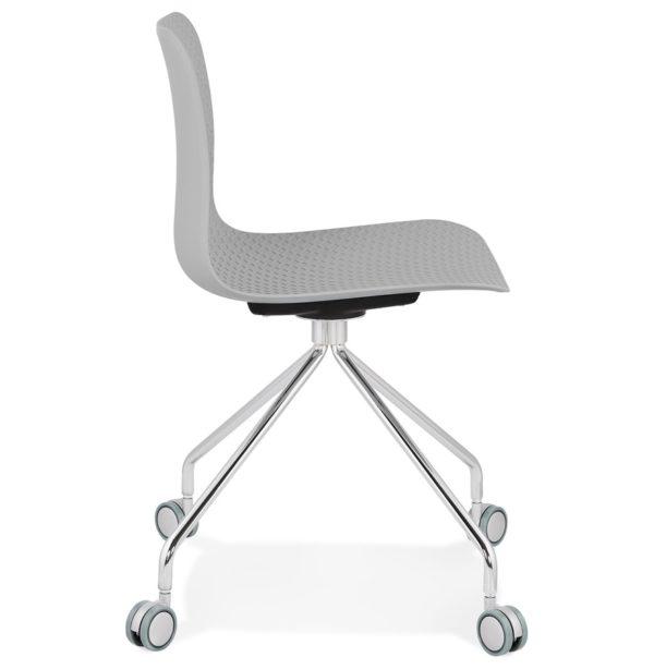 Chaise-design-de-bureau-´SLIK´-grise-sur-roulettes-2