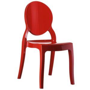 Chaise médaillon ´ELIZA´ rouge en matière plastique 300x300 - Décoration pas chère et moderne