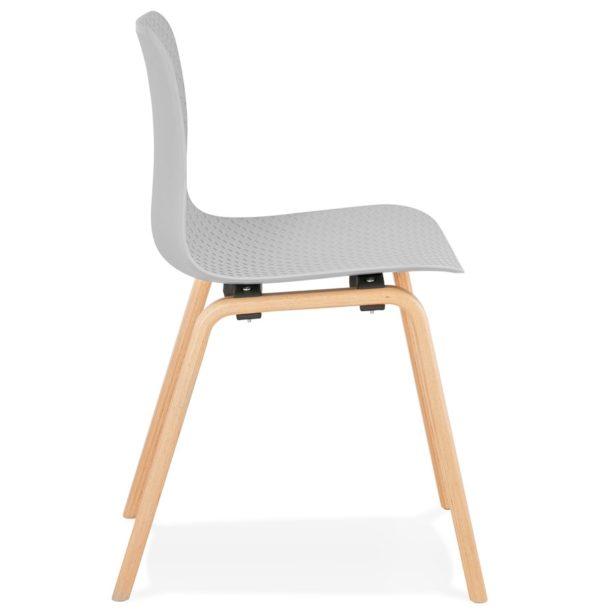Chaise-scandinave-´PACIFIK´-grise-avec-pieds-en-bois-finition-naturelle-2