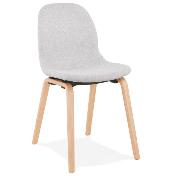 Chaise scandinave de salle à manger ´CELTIK´ en tissu gris clair