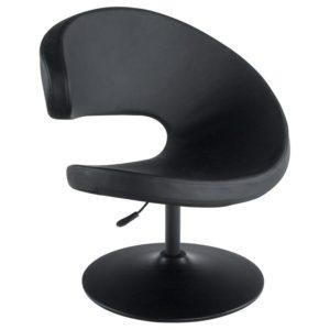 Fauteuil design pivotant ´SHARK´ noir réglable en hauteur