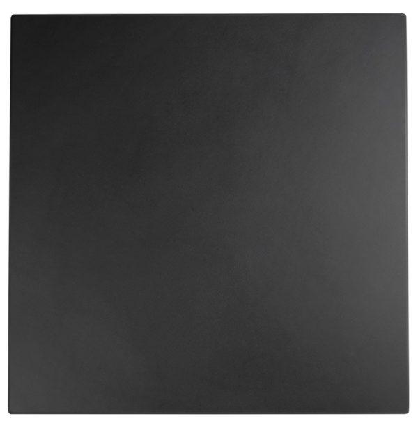 Plateau de table ´PUNTO´ carré noir intérieur / extérieur - 70x70 cm