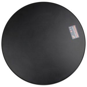 Plateau de table ´PUNTO´ rond noir intérieur / extérieur - Ø 70 cm