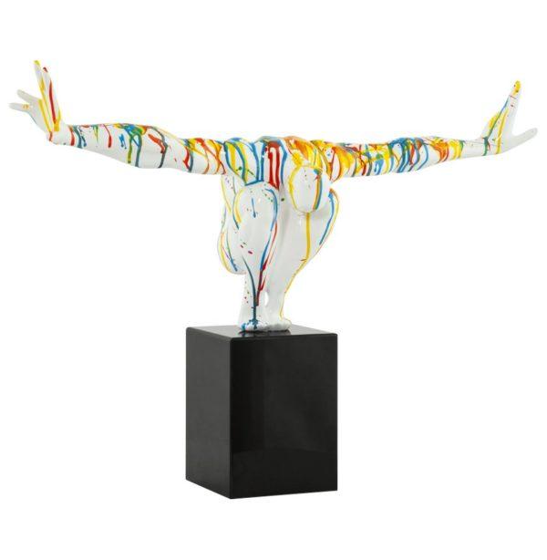 Statue déco ´ WISE ´ athlète homme en polyrésine multicolore