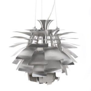 Suspension en forme dartichaut ´SPIKE´ en métal brossé 300x300 - Décoration pas chère et moderne