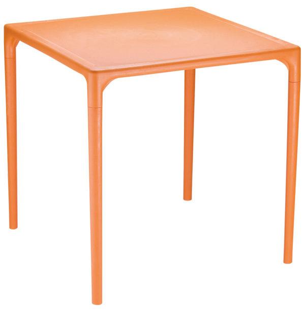 Table-à-dîner-carrée-´KUIK´-design-orange-72×72-cm-1