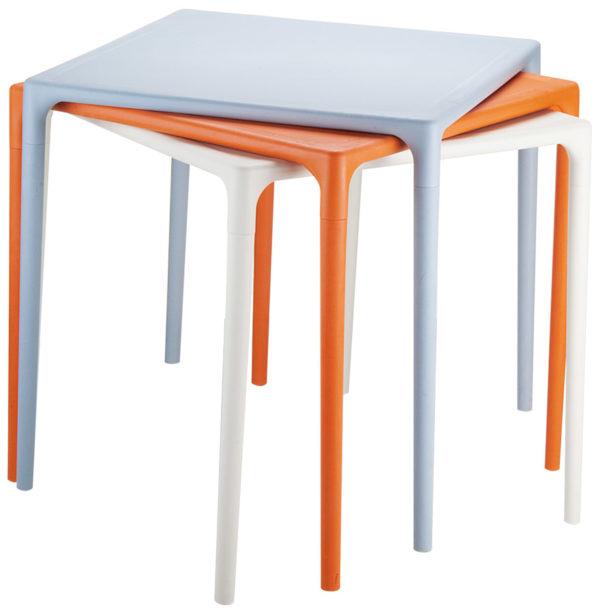 Table-à-dîner-carrée-´KUIK´-design-orange-72×72-cm-2