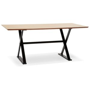 Table à diner bureau design avec pieds en croix ´HAVANA´ en bois finition naturelle 180x90 cm 300x300 - Décoration pas chère et moderne