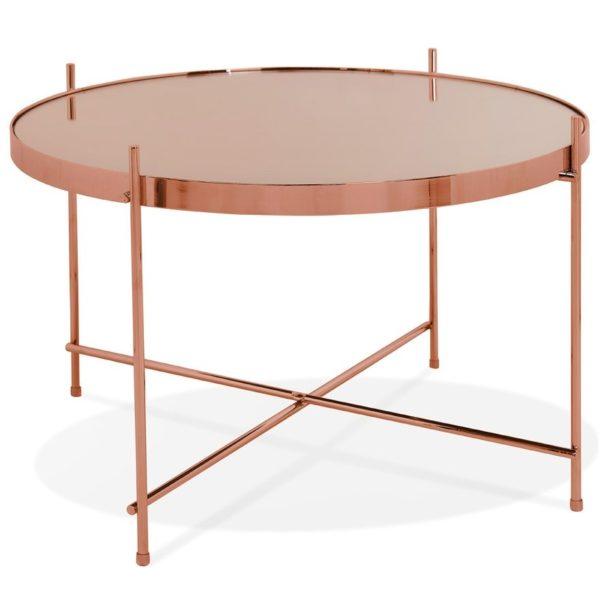 Table basse ´KOLOS MEDIUM´ couleur cuivre