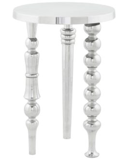 Table d´appoint ´TRIO en aluminium poli