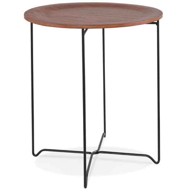 Table-d´appoint-design-´TSUNAMI´-noire-style-industriel-2
