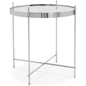 Table d´appoint pliable ´KOLOS´ couleur chrome