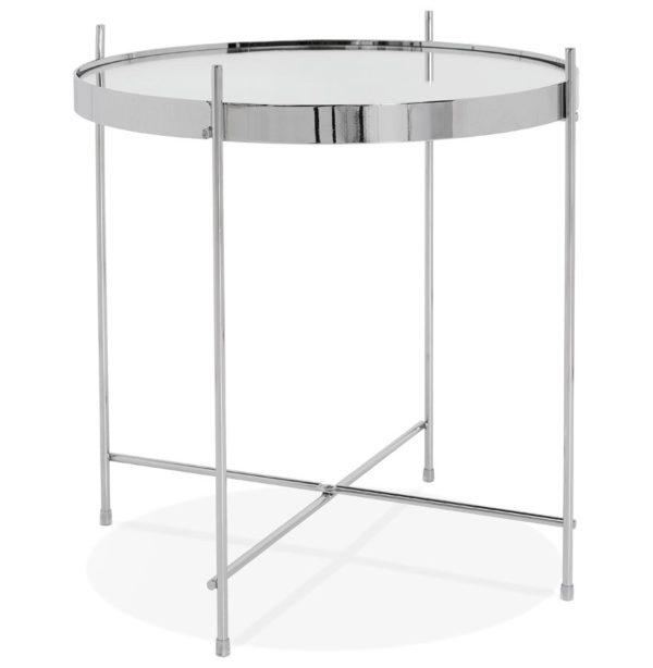 Table d´appoint pliable ´KOLOS´ couleur chrome