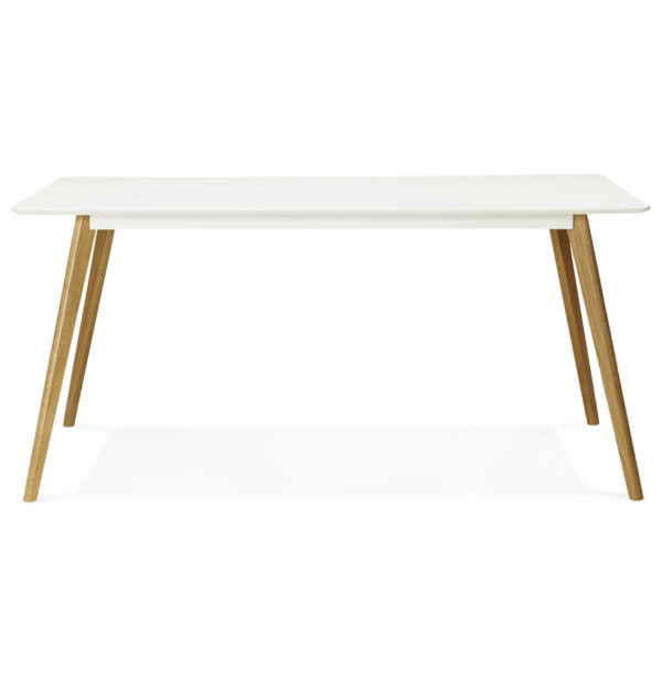 Table-de-cuisine-rectangulaire-bureau-droit-´CANDY´-blanc-160×90-cm-1