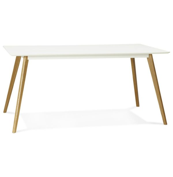 Table de cuisine rectangulaire / bureau droit ´CANDY´ blanc - 160x90 cm