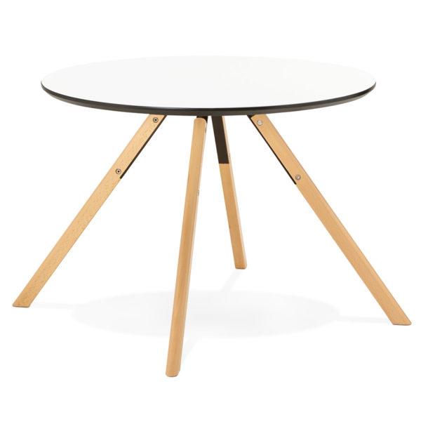 Table-de-cuisine-ronde-´BALKAN´-blanche-style-scandinave-Ø-100-cm-2
