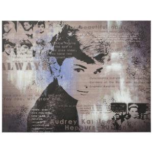 Tableau design ´AUDREY´ Hepburn toile imprimée 120x90cm