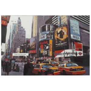 Tableau design ´BUSY´ time square New York sur toile imprimée 120x80 cm
