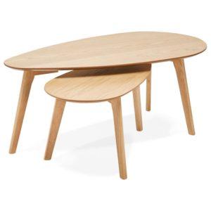 Tables gigognes design ´STOKOLM´ en bois finition naturelle