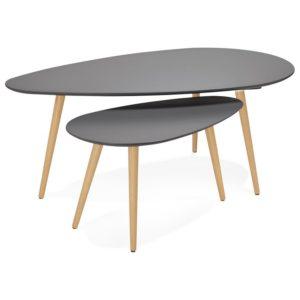 Tables gigognes design ´TETRYS´ grises foncées