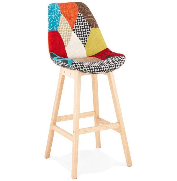 Tabouret de bar ´CUPIDON´ style patchwork