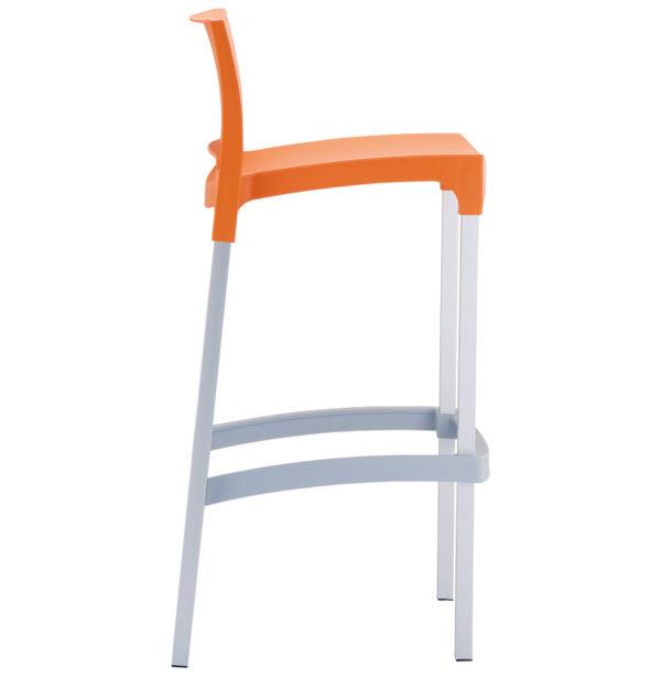 Tabouret-de-bar-´MATY´-orange-empilable-extérieur-et-intérieur-2