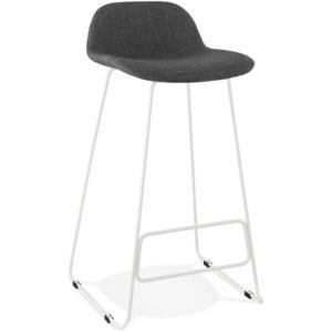 Tabouret de bar design ´MOSKOW´ avec pieds en métal blanc