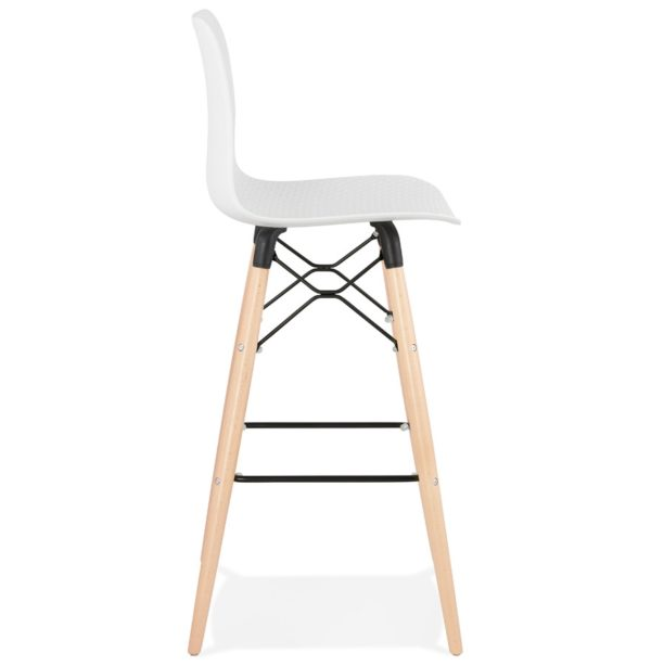 Tabouret De Bar Design Mozaik Blanc Style Scandinave Addesign