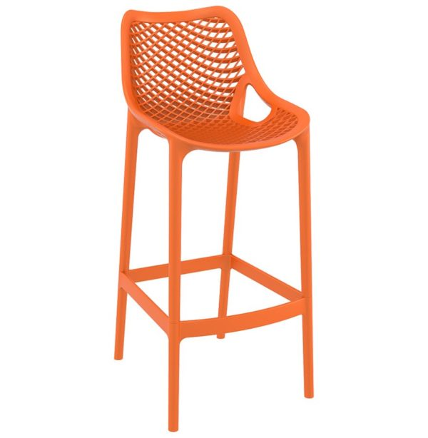 Tabouret de jardin ´BROZER´ orange en matière plastique