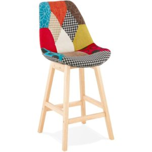 Tabouret snack mi-hauteur ´CUPIDON MINI´ style patchwork