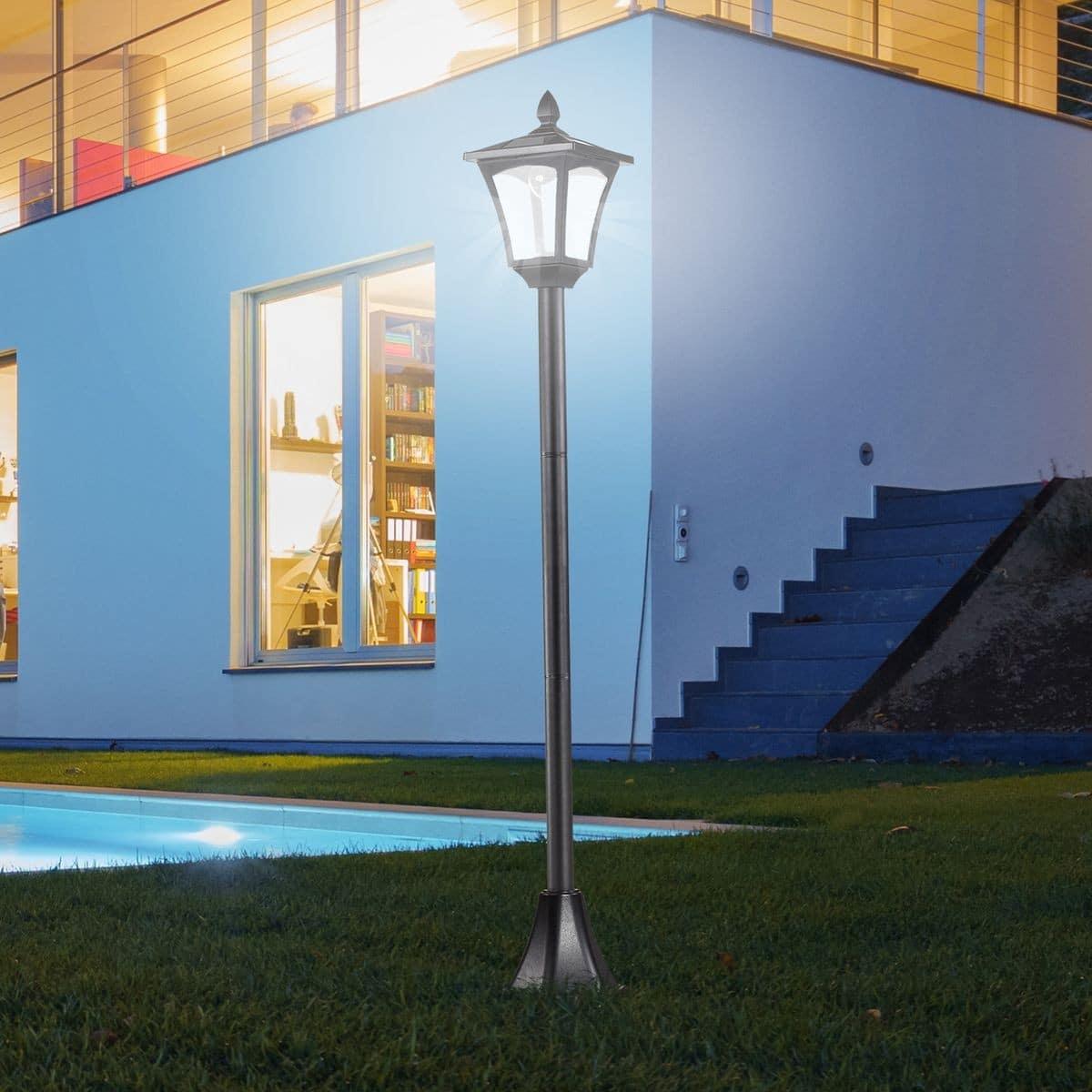 lampadaire solaire exterieur design