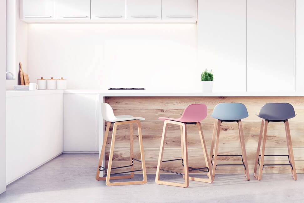 tabouret design couleur bois plastique cuisine