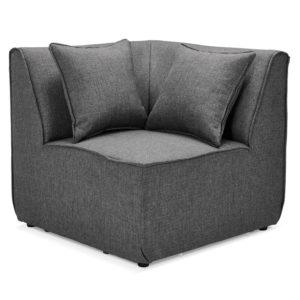 Élément coin de canapé modulable ´INFINITY CORNER´ gris foncé