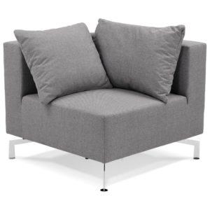 Élément de canapé modulable ´VOLTAIRE CORNER´ gris - coin de canapé