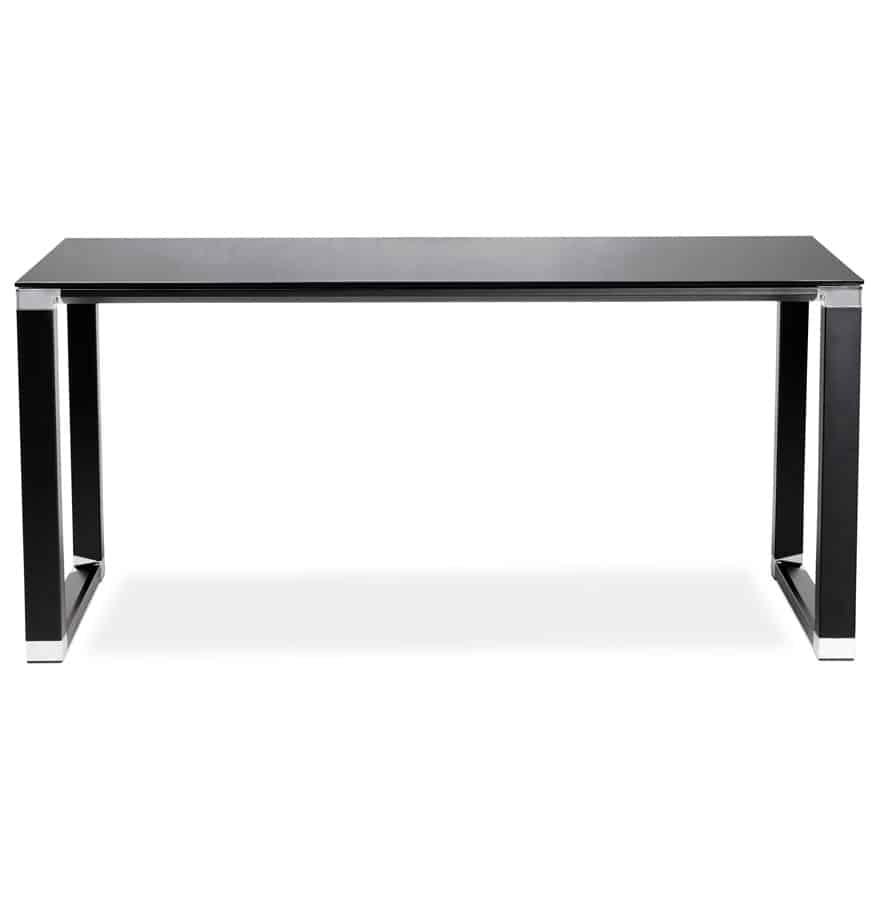 Bureau-de-direction-droit-design-´XLINE´-en-verre-noir-160×80-cm-2