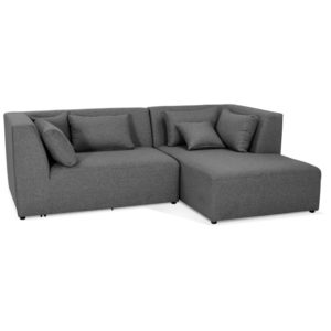 Canapé d´angle ´BELAGIO ANGLE´ gris foncé - canapé modulable (angle à droite)