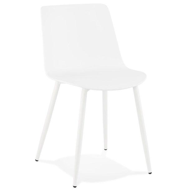 Chaise de cuisine moderne ´BRENDA´ blanche