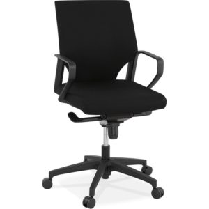 Fauteuil de bureau ´KIWI LOW´ en tissu noir
