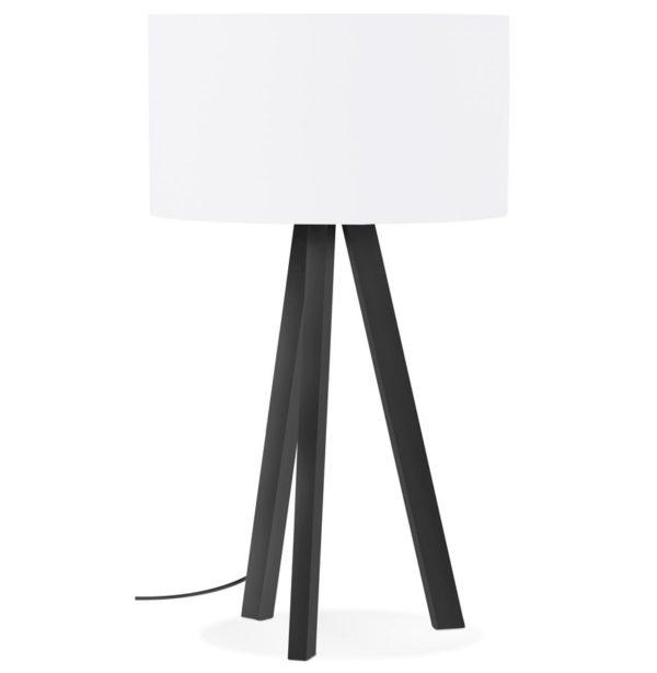 Lampe à poser design ´SPRING MINI´ avec abat-jour blanc et trépied noir