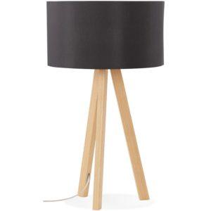 Lampe à poser trepied ´SPRING MINI´ avec abat-jour noir style scandinave