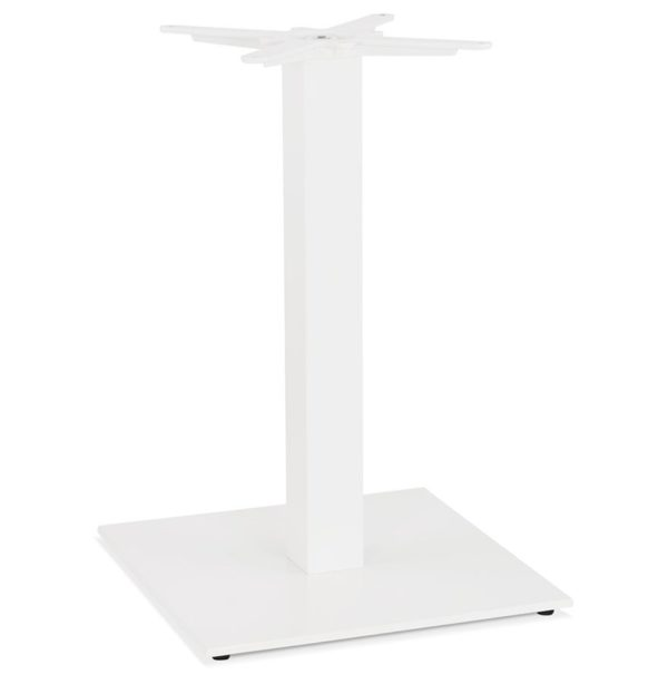 Pied de table carré ´TOWER´ 75 en métal blanc intérieur/extérieur