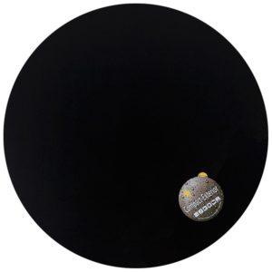 Plateau de table ´PLANO´ rond Ø 68cm noir en résine compressée