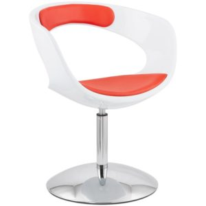 Siège design rotatif ´SPACE´ rouge et blanc