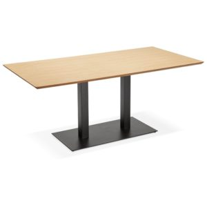 Table / bureau design ´ZUMBA´ en bois finition naturelle - 180x90 cm